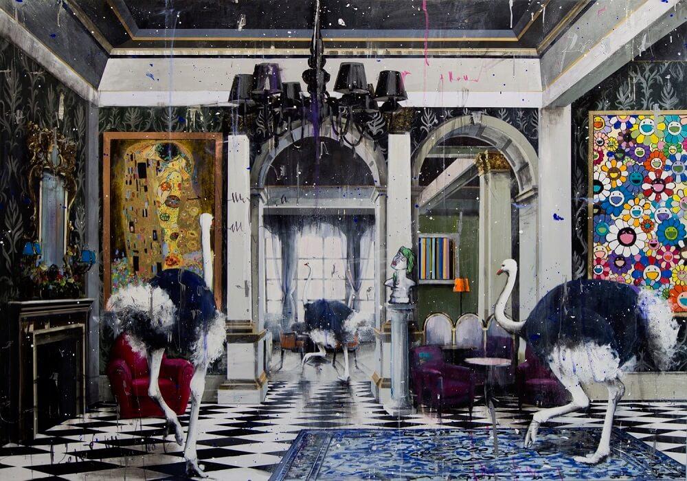 Eden Fine Art - Angelo Accardi - KLIMT VS MURAKAMI II