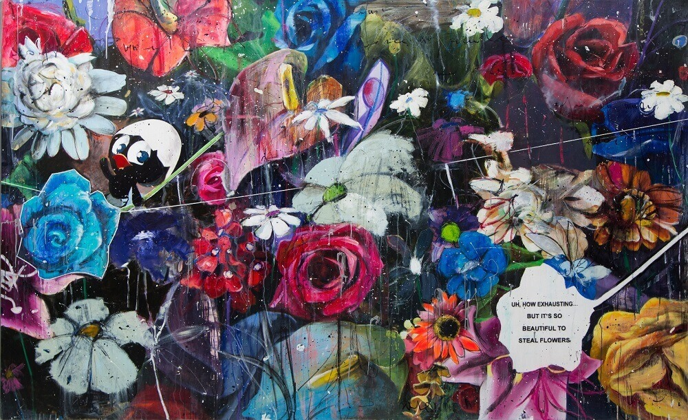 Eden Fine Art - Angelo Accardi - It's So Beautiful To Steal Flowers